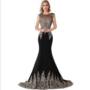 Dresses & Skirts - Long Prom Dress Embellished Mermaid Dress Satin